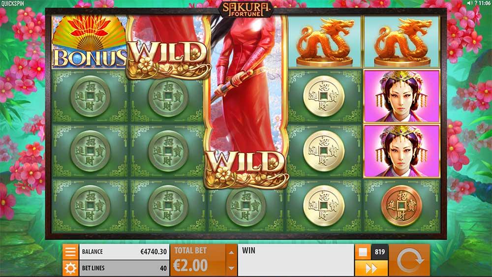Sakura Fortune Slot - Scatter Trigger