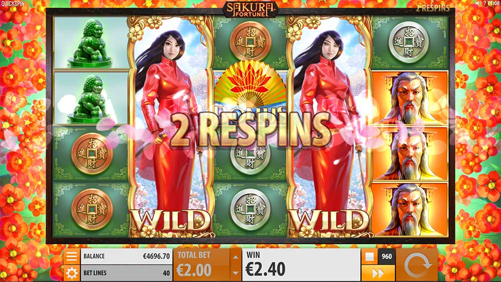 Sakura Fortune Slot - Re-Spins