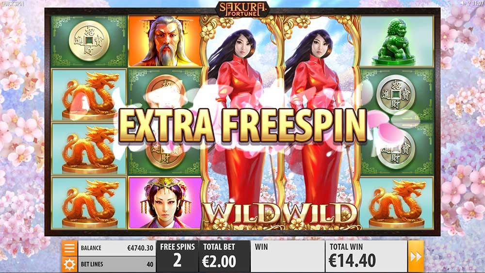 Sakura Fortune Slot - Extra Free Spin