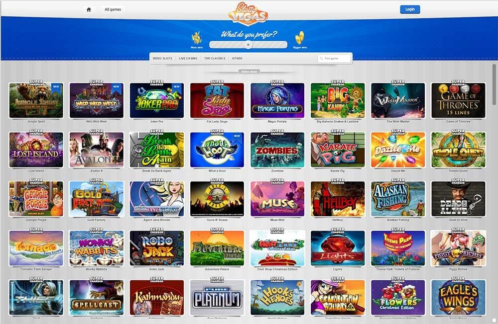 Slotty Vegas Casino - Full range of Online Slots