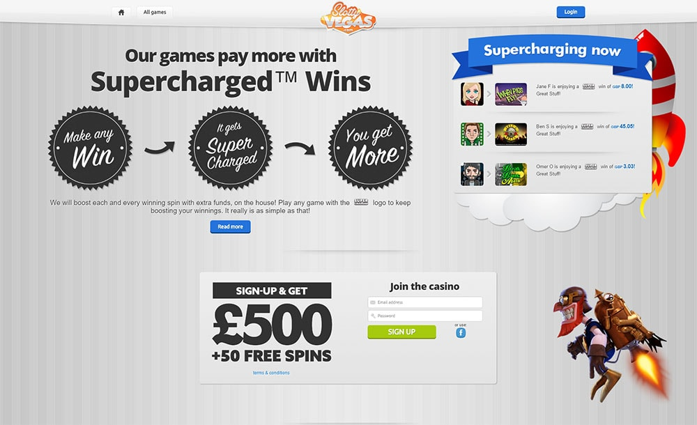 Slotty Vegas Casino - Supercharged Winnings