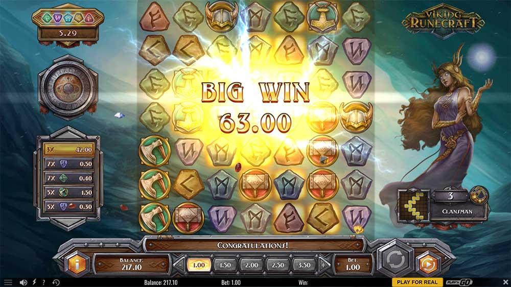 Viking Runecraft Slot - Big Win