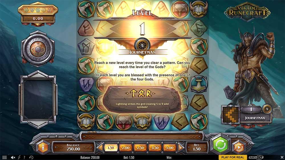 Viking Runecraft Slot - Intro Screen