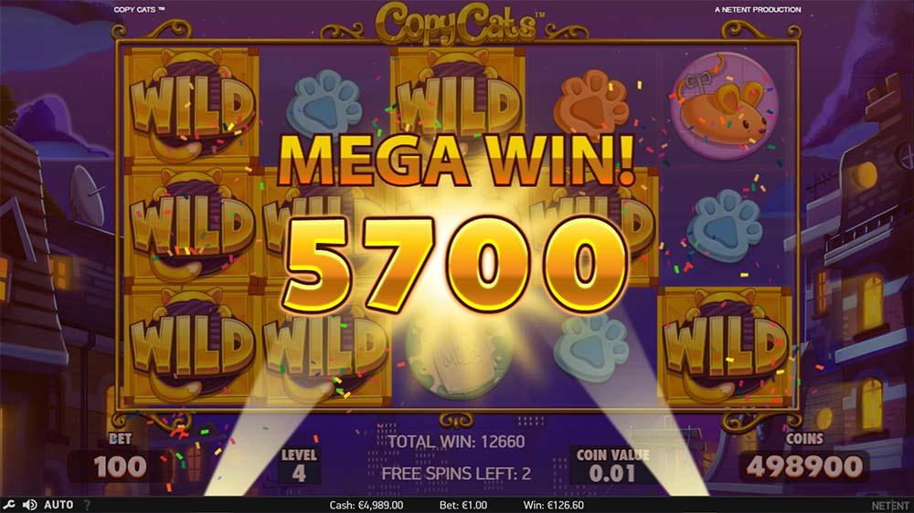 Copy Cats Slot - Mega Win