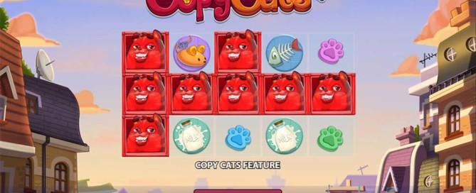 Copy Cats Slot - Intro Screen