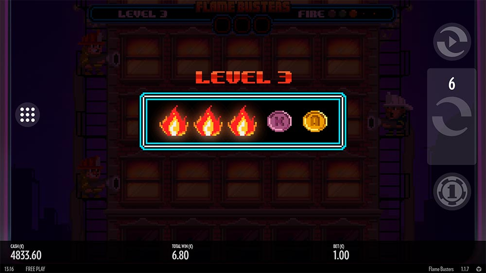Flame Busters Slot - Level Up