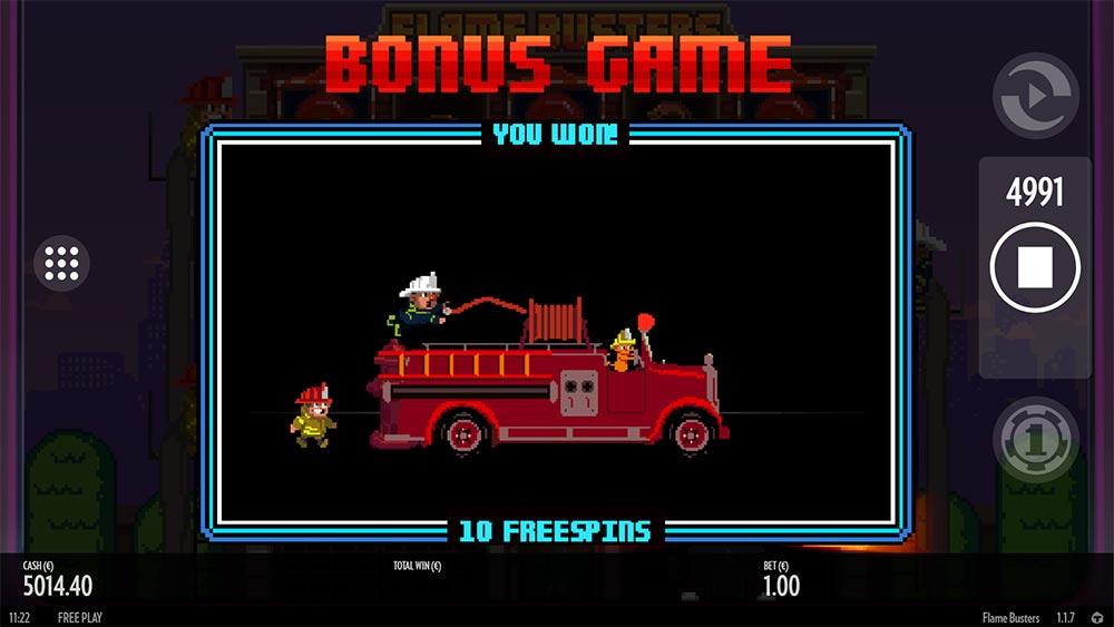 Flame Busters Slot - Bonus Trigger