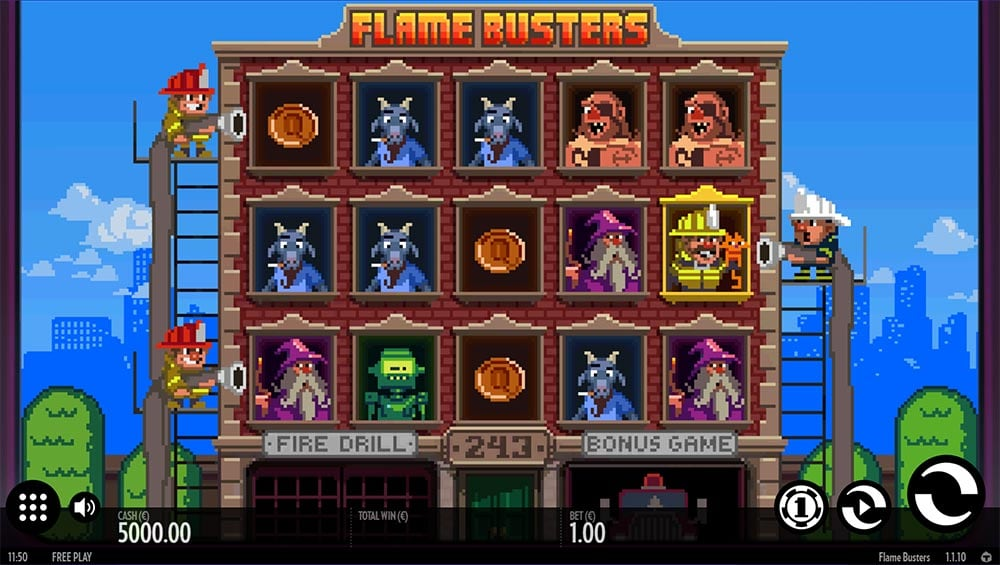Flame Busters Slot - Base Game