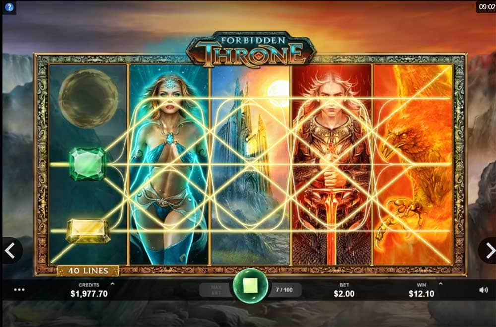 Forbidden Throne Slot - 4 Wild Reels