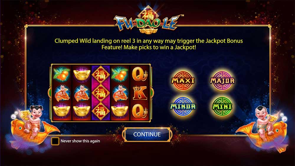 Fu Dao Le Slot - Jackpots