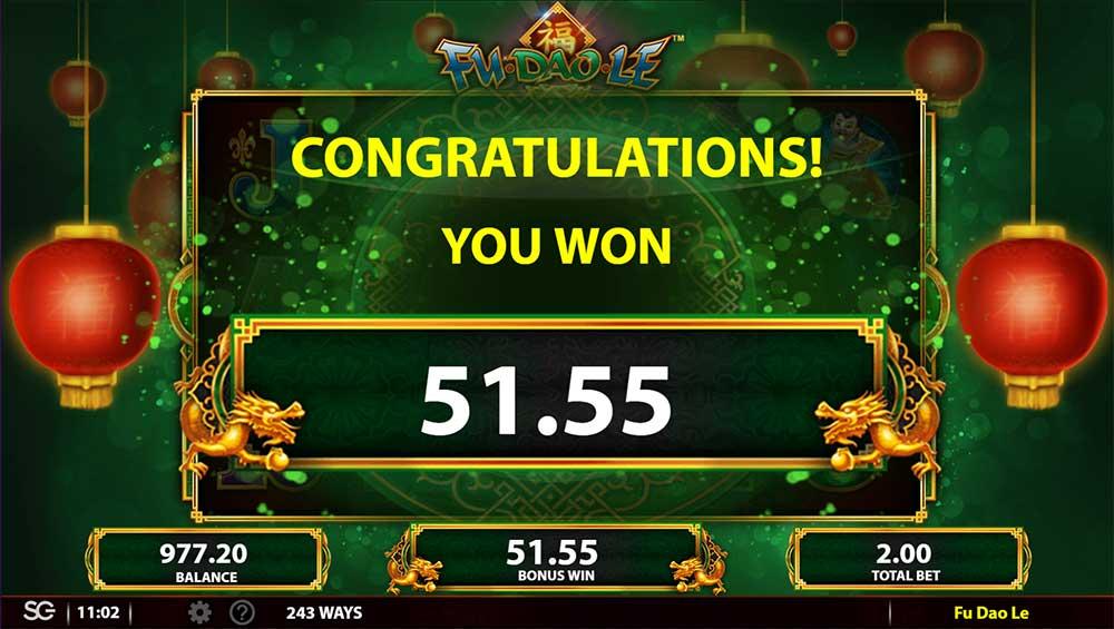 Fu Dao Le Slot - Bonus End