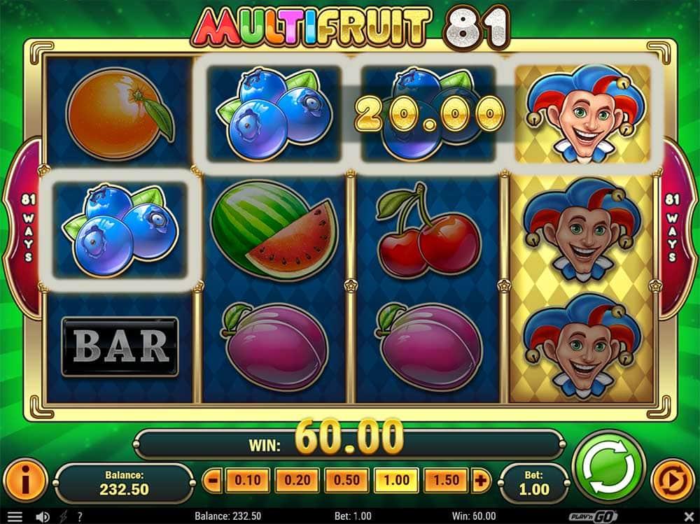 Multifruit 81 Slot - Joker Wilds