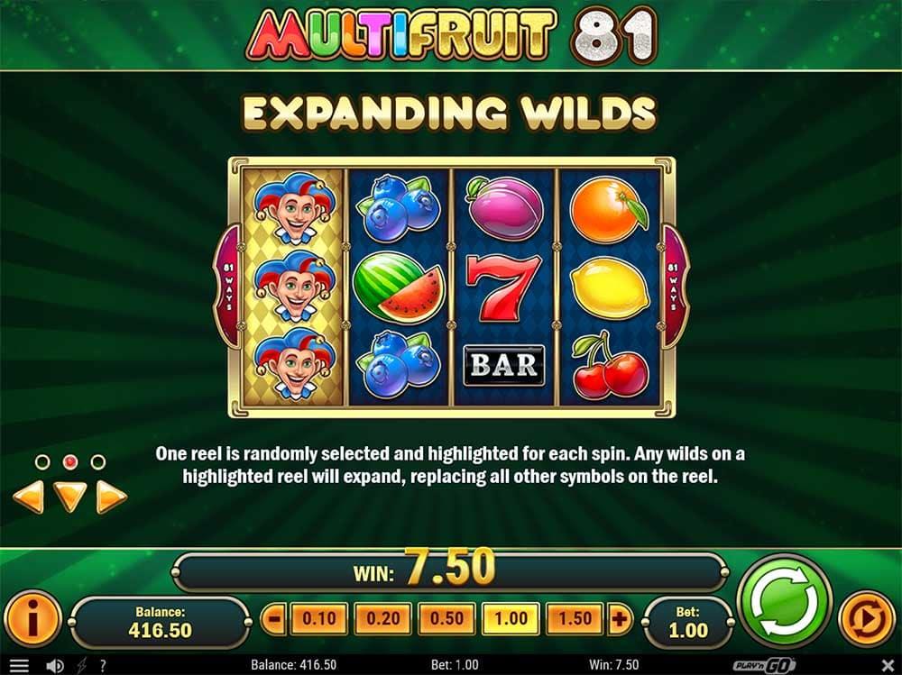 Multifruit 81 Slot - Expanding Wilds