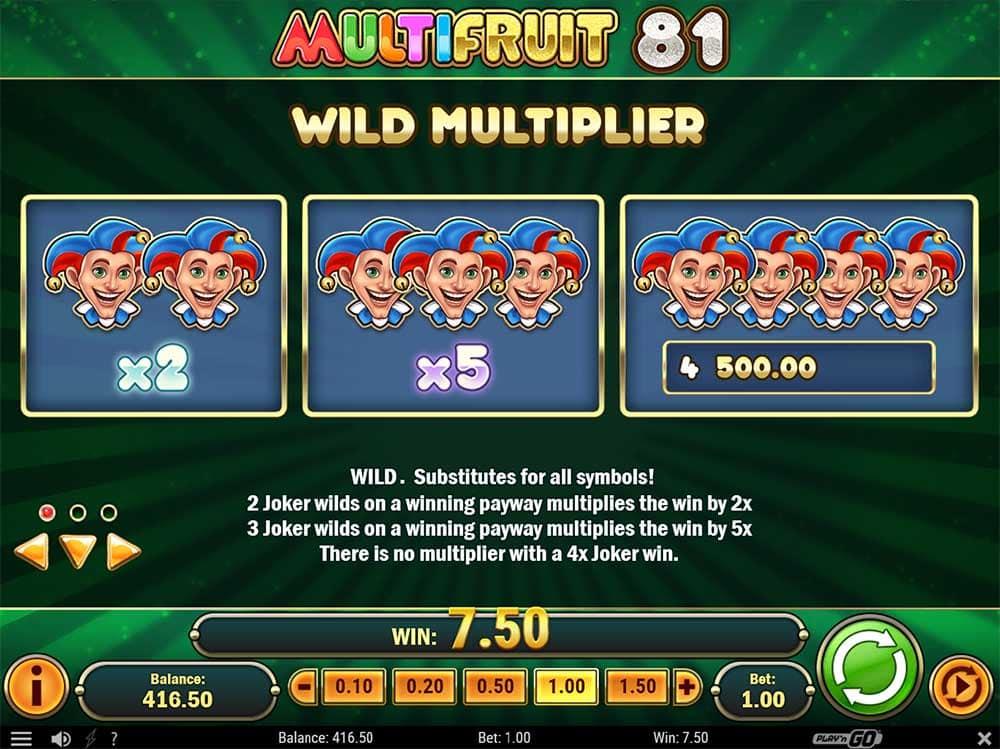 Multifruit 81 Slot - Wild Multipliers