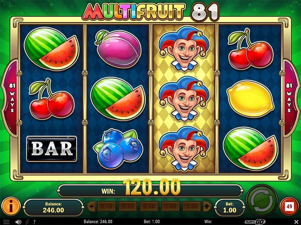 Multifruit 81 Slot - Big Win