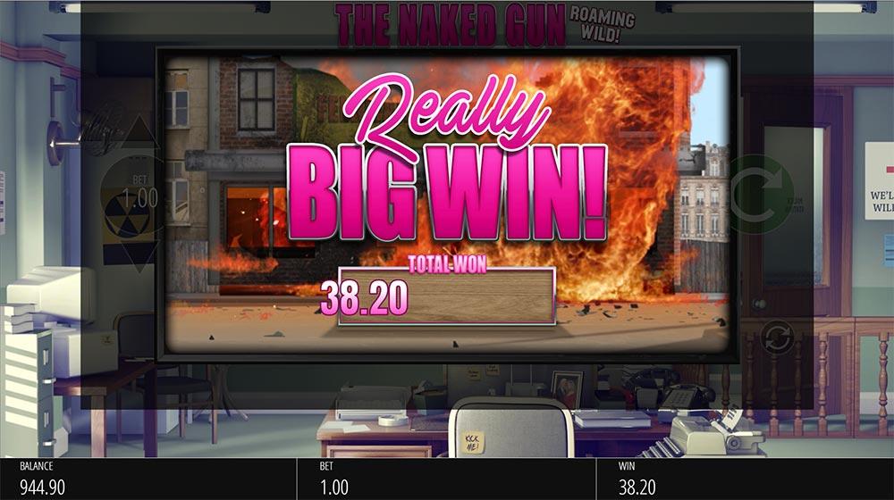 Naked Gun Slot - Really Big Win