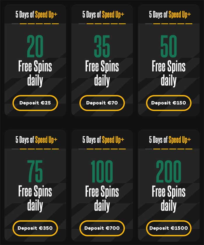 Shadow Bet Free Spin Tiers