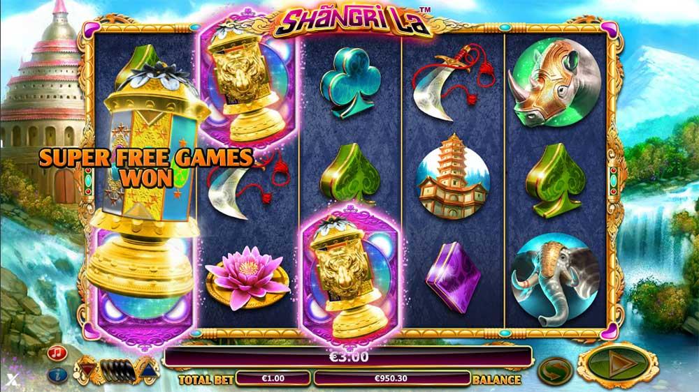 Shangri La Slot - Bonus Trigger
