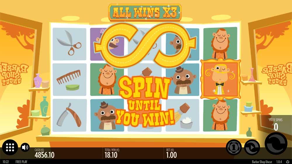 Barber Shop Uncut Slot - Spin Until You Win Feature