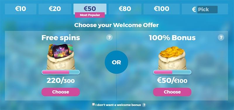Casino Heroes Welcome Bonuses