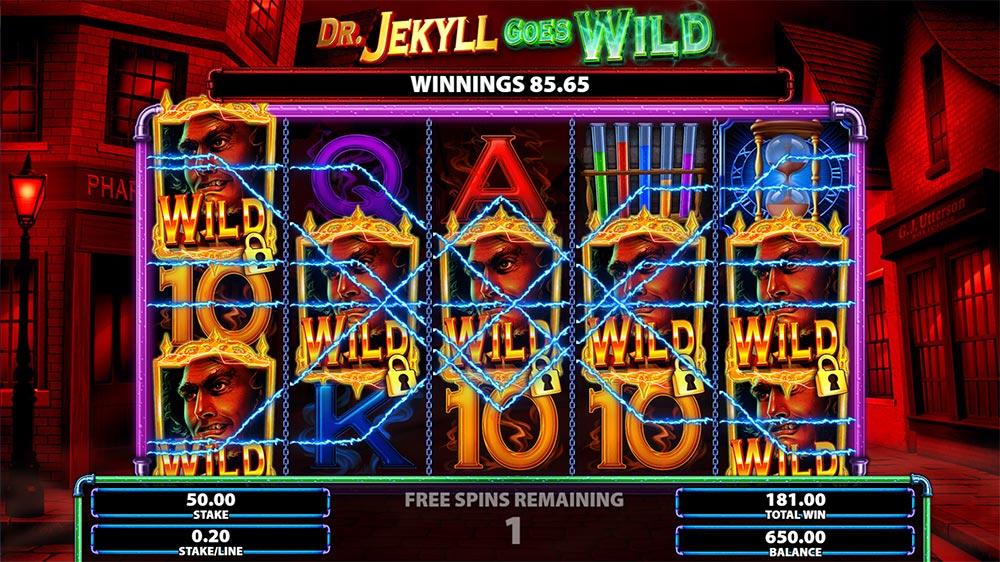 Dr. Jekyll Goes Wild Slot - Sticky Wilds
