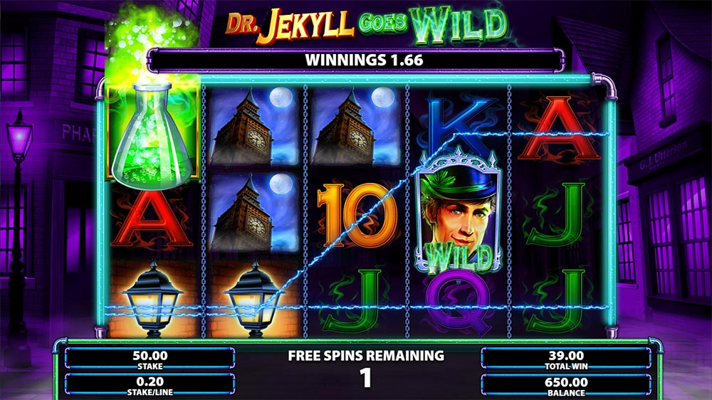 Dr. Jekyll Goes Wild Slot - Unlimited Free Spins Trigger