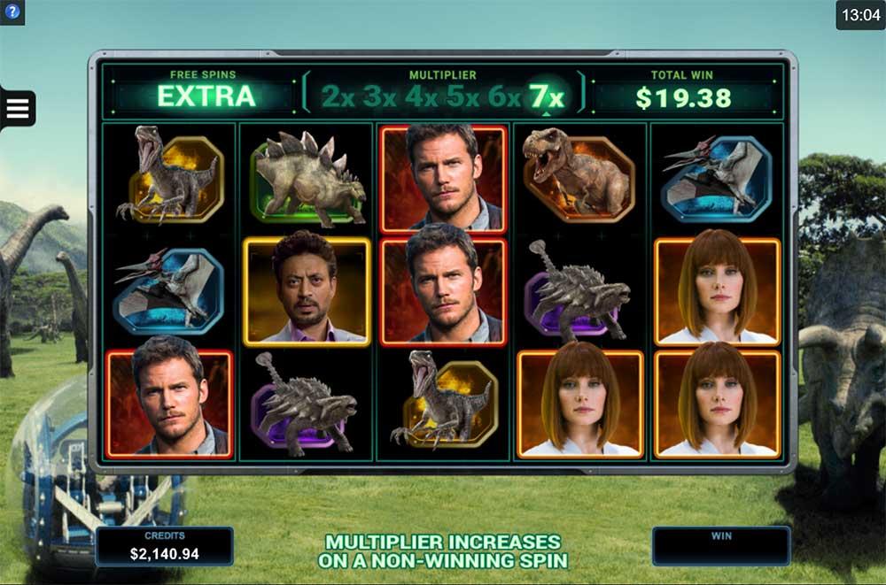 Jurassic World Slot - Multiplier Free Spins Mode
