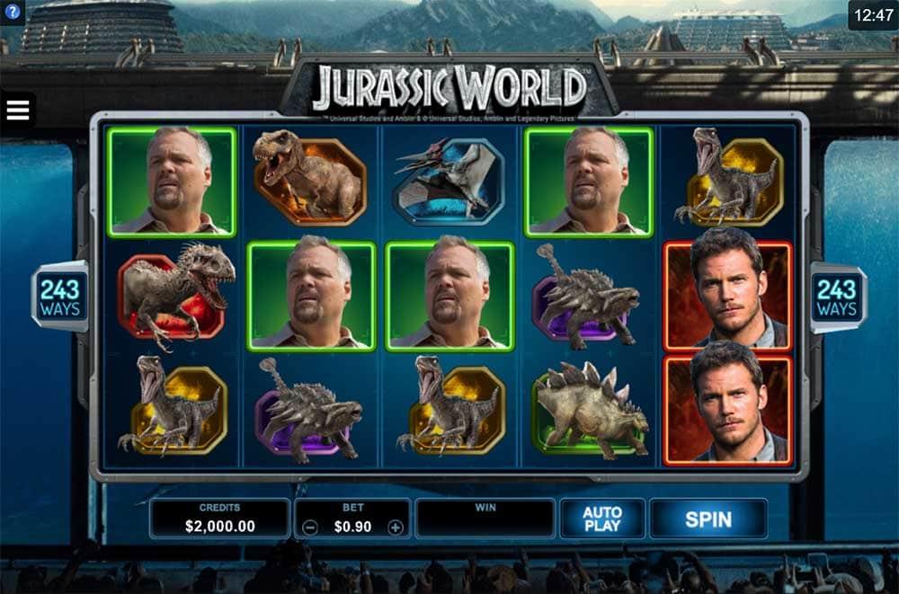 Jurassic World Slot - Base Game