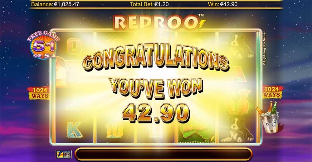 Redroo Slot - Bonus End Result