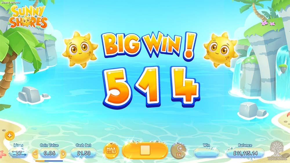 Sunny Shores Slot - Big Win