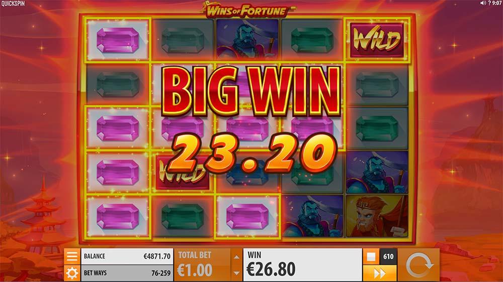 Wins of Fortune Slot - Big Win
