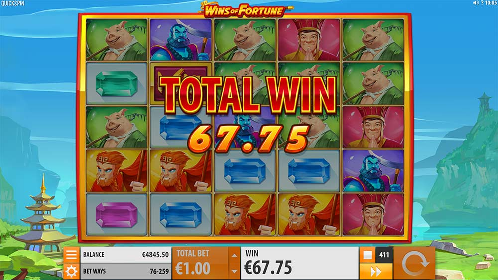 Wins of Fortune Slot - Total Win Bonus Feature
