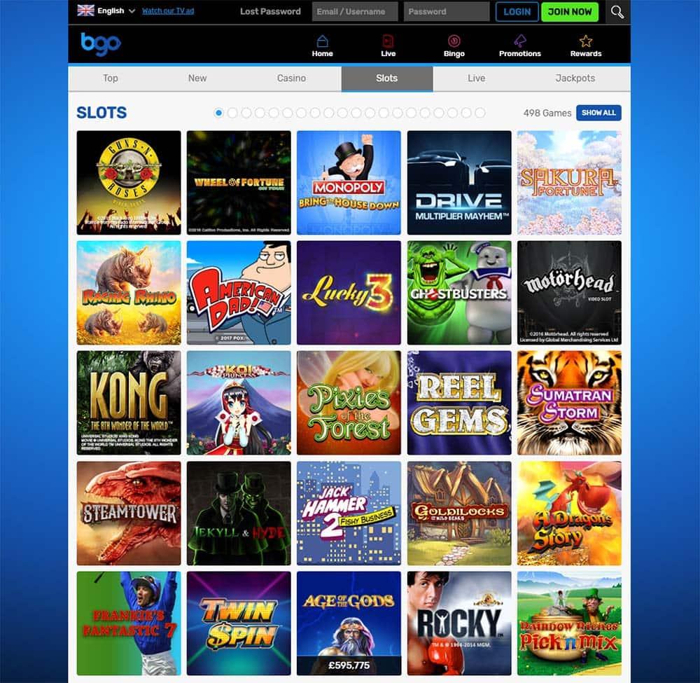 BGO Casino - Range of Slots
