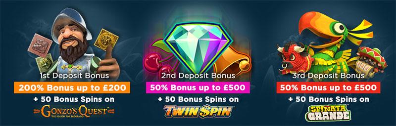 New Diamond 7 Casino Welcome Bonuses 2017
