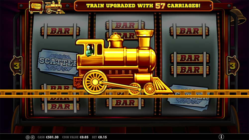 Gold Train Slot - Carriages Added for Bonus