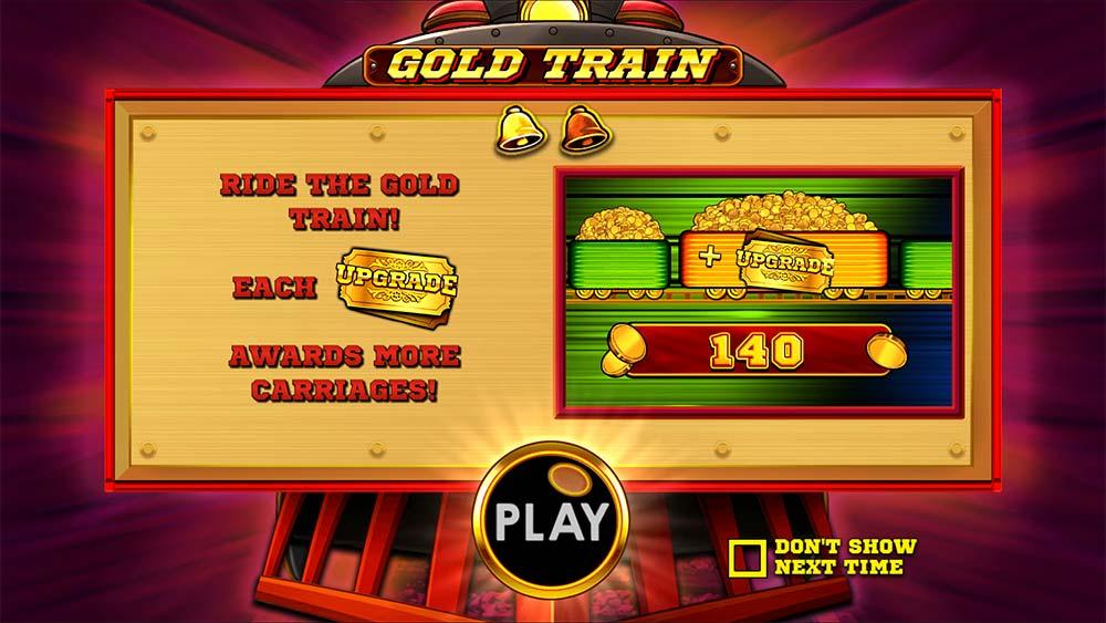 Gold Train Slot - Intro Screen