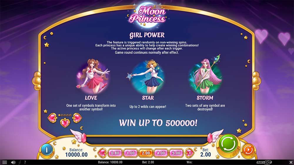 Moon Princess Slot - Girl Power Modes