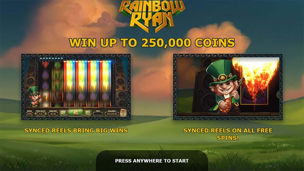 Rainbow Ryan Slot - Intro Screen