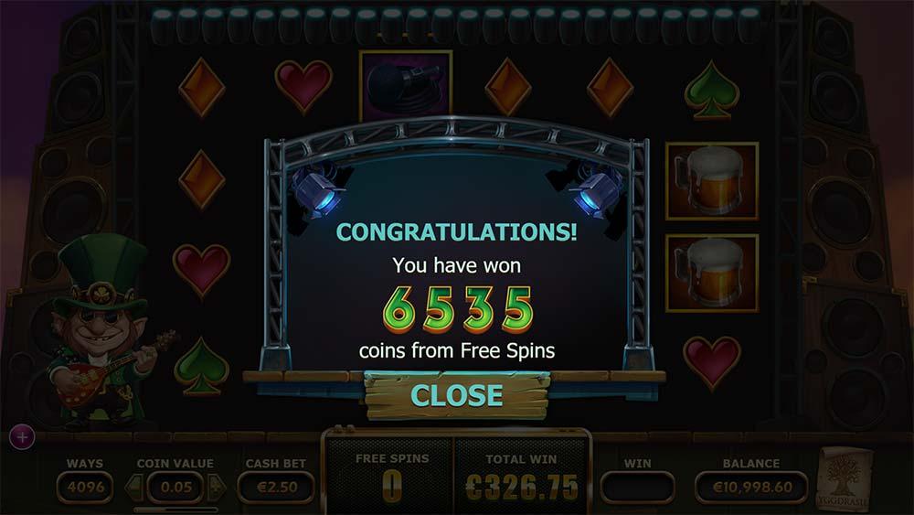 Rainbow Ryan Slot - Bonus End