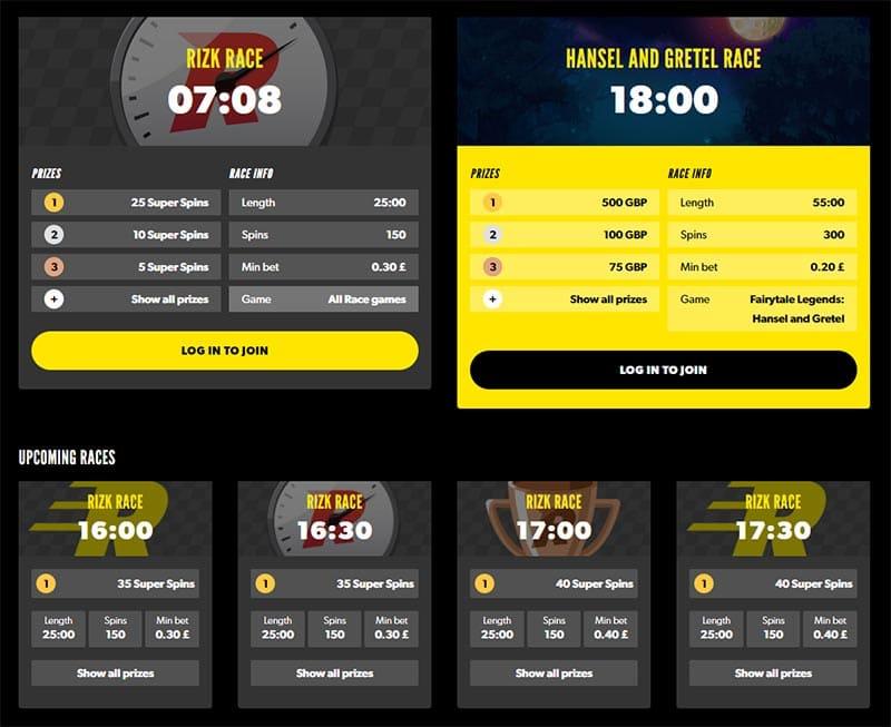 Rizk Casino Races