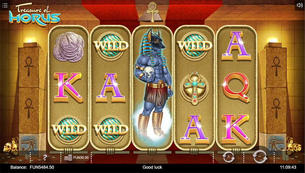 Treasure of Horus Slot - Bonus Trigger