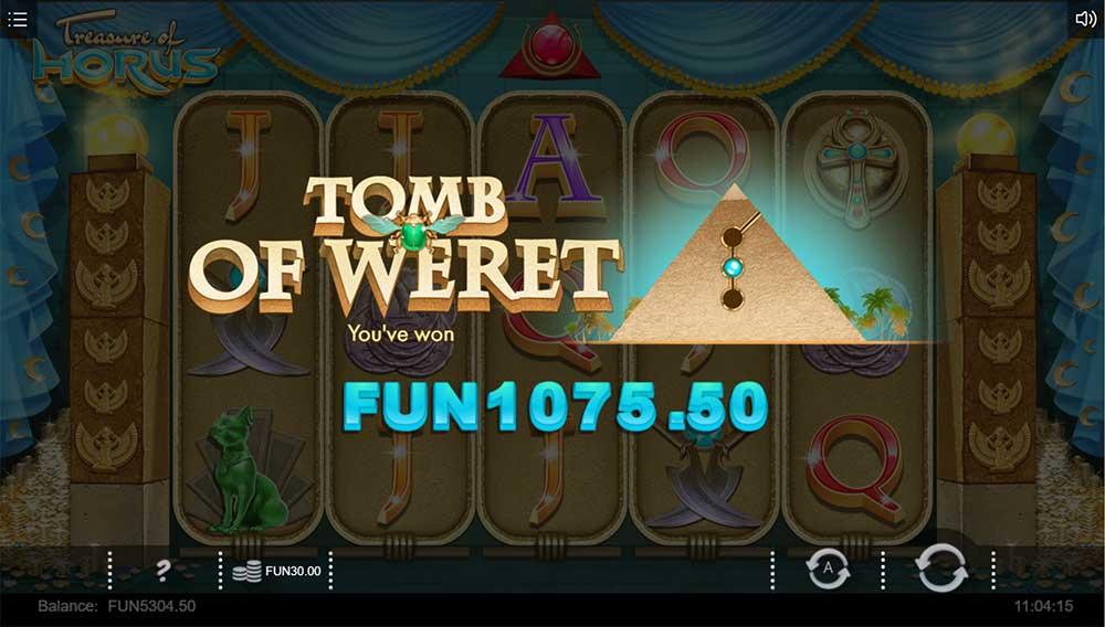 Treasure of Horus Slot - Free Spins Result