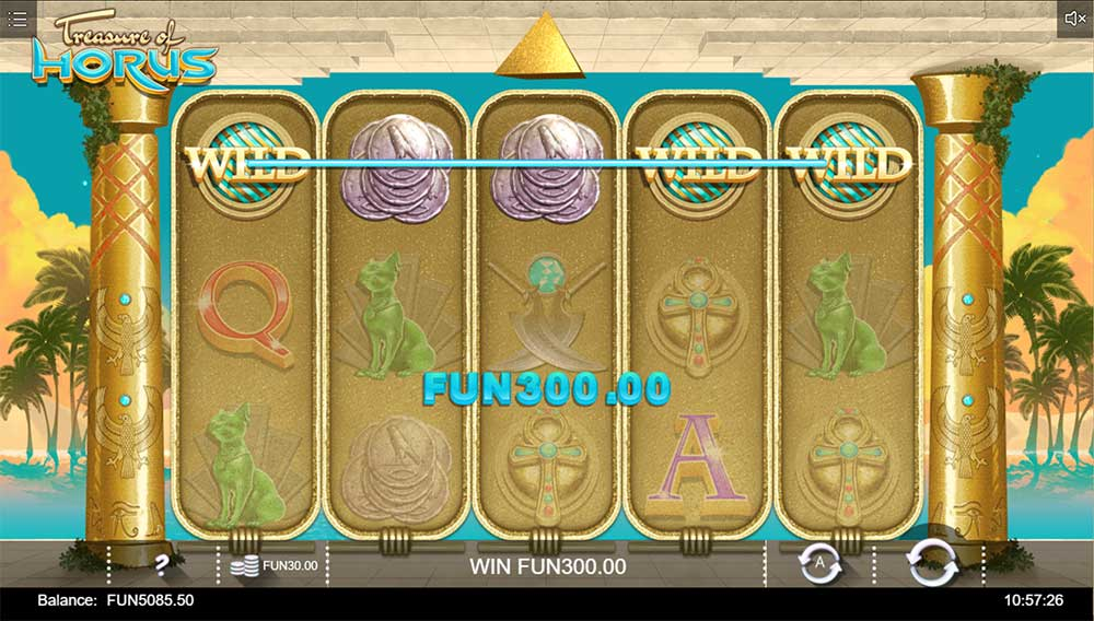 Treasure of Horus Slot - Line Hit