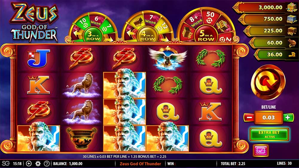 Zeus God of Thunder Slot - Base Game