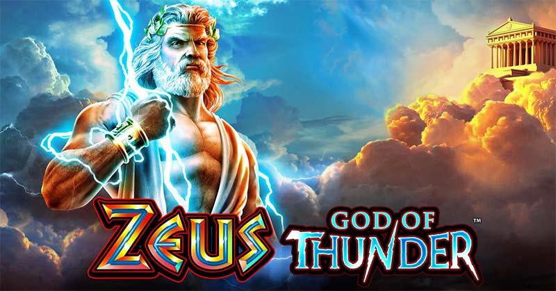 Zeus God of Thunder Slot Logo