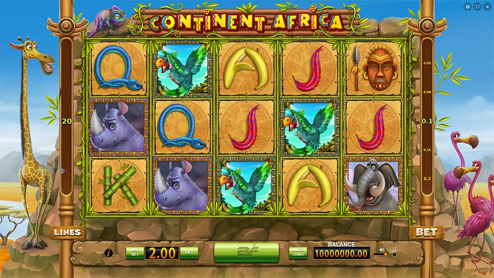 Continent Africa Slot - BeeFee Games