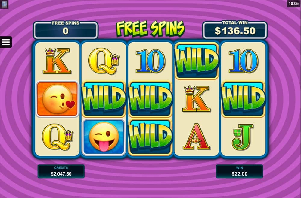 EmotiCoins Slot - Free Spins Sticky Wilds