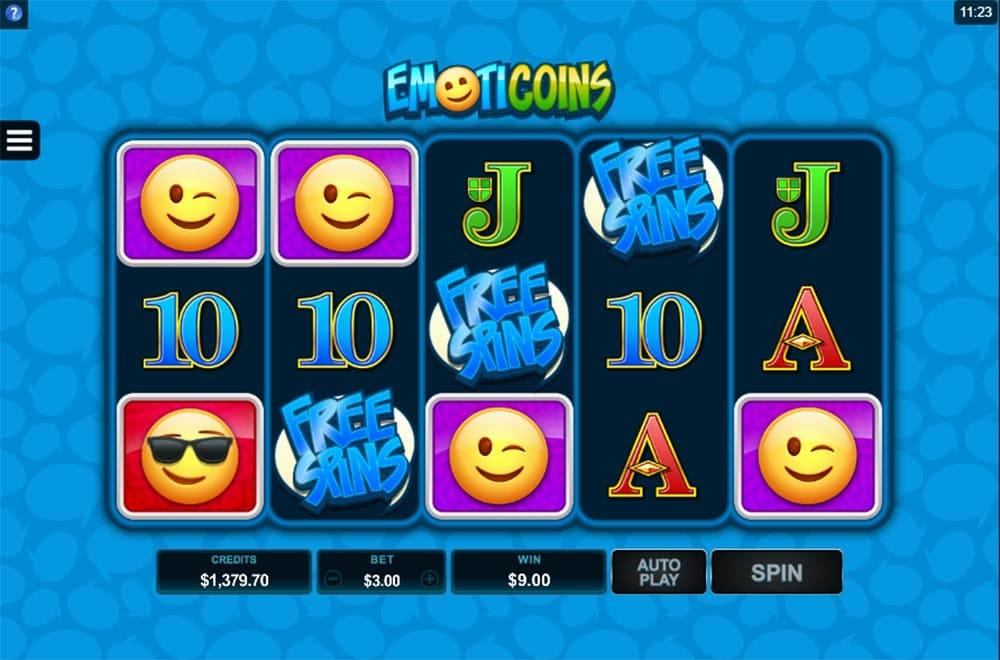 EmotiCoins Slot - Free Spins Trigger
