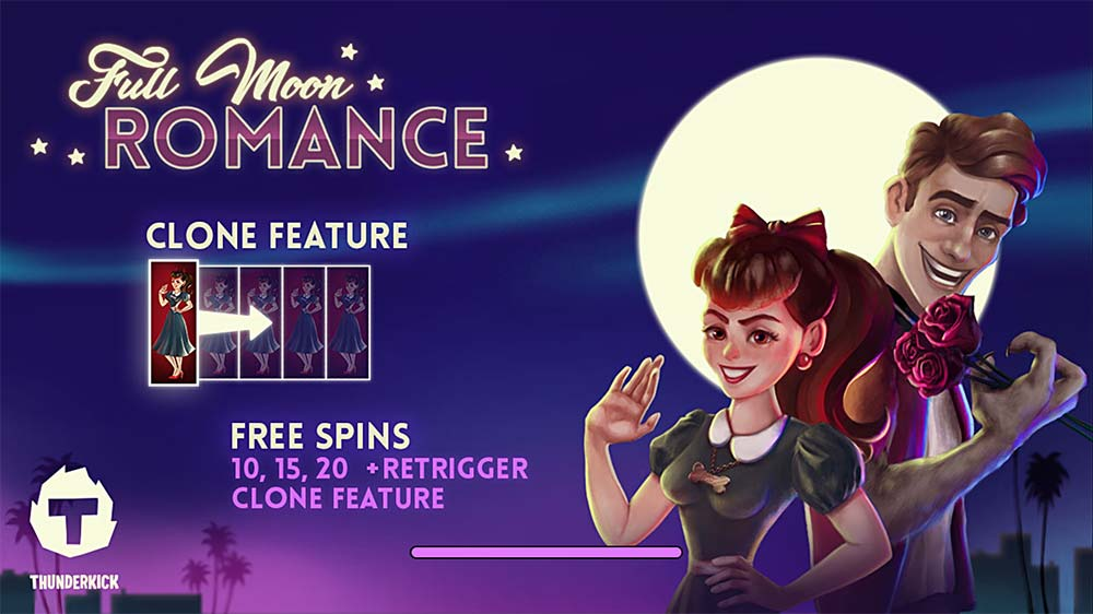 Full Moon Romance Slot - Intro Screen
