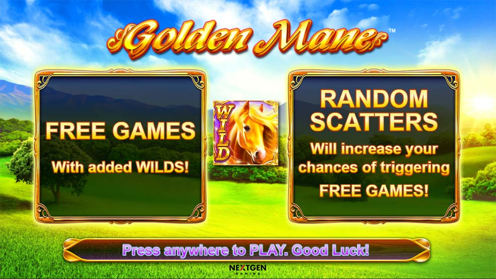 Golden Mane Slot - Intro Screen